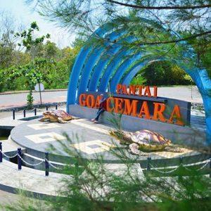 Tempat Outbound di Pantai Goa Cemara, outbound di pinggir pantai Goa Cemara Bantul Jogjakarta, Paket outbound di pinggir pantai gua cemara