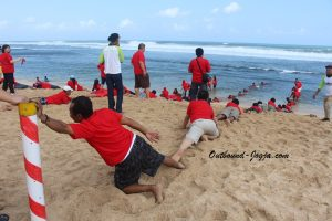 Outbound di pantai Jogja