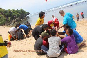 Outbound di Pantai Sundak dan Indrayanti